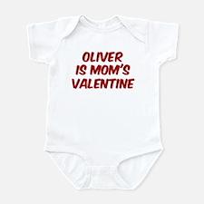 Olivers is moms valentine Infant Bodysuit