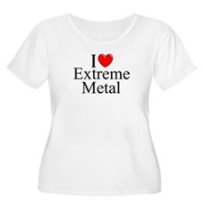 """I Love (Heart) Extreme Metal"" T-Shirt"