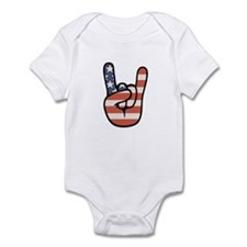 Peace, Love, Rock Infant Bodysuit