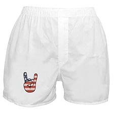 Peace, Love, Rock Boxer Shorts