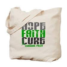 HOPE FAITH CURE Cerebral Palsy Tote Bag