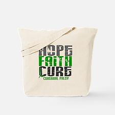 HOPE FAITH CURE Cerebral Palsy Tote Bag