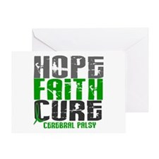 HOPE FAITH CURE Cerebral Palsy Greeting Card