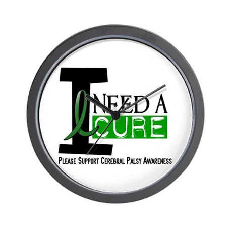 I Need A Cure CEREBRAL PALSY Wall Clock