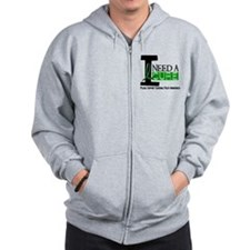 I Need A Cure CEREBRAL PALSY Zip Hoodie