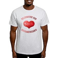 50th Anniversary Heart Gift T-Shirt