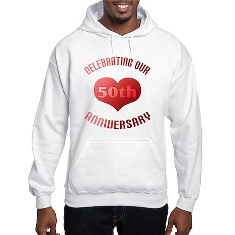 50th Anniversary Heart Gift Hooded Sweatshirt
