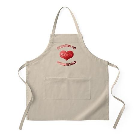 50th Anniversary Heart Gift BBQ Apron