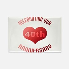 40th Anniversary Heart Gift Rectangle Magnet