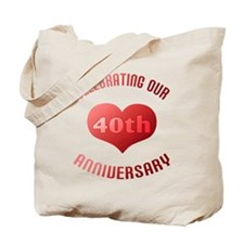 40th Anniversary Heart Gift Tote Bag