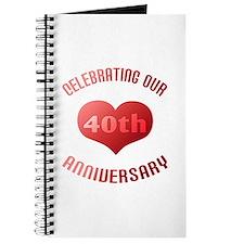 40th Anniversary Heart Gift Journal