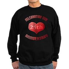 25th Anniversary Heart Gift Sweatshirt