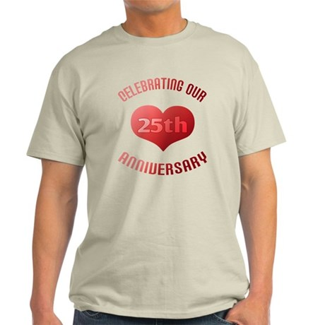 25th Anniversary Heart Gift Light T-Shirt