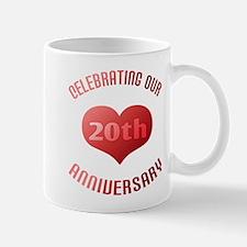 20th Anniversary Heart Gift Mug