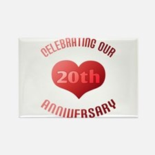 20th Anniversary Heart Gift Rectangle Magnet