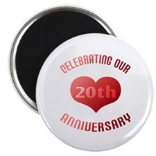 20th Anniversary Heart Gift Magnet