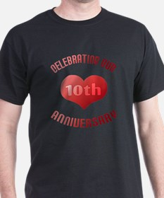 10th Anniversary Heart Gift T-Shirt