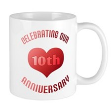 10th Anniversary Heart Gift Mug