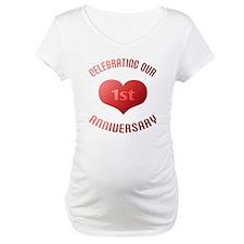 1st Anniversary Heart Gift Shirt