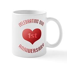 1st Anniversary Heart Gift Mug