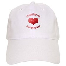 1st Anniversary Heart Gift Baseball Cap