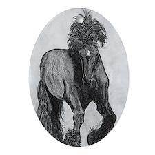 Percheron Oval Ornament