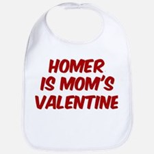 Homers is moms valentine Bib