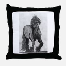 Percheron Throw Pillow