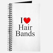 """I Love (Heart) Hair Bands"" Journal"