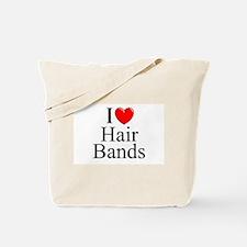 """I Love (Heart) Hair Bands"" Tote Bag"