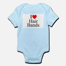 """I Love (Heart) Hair Bands"" Infant Bodysuit"