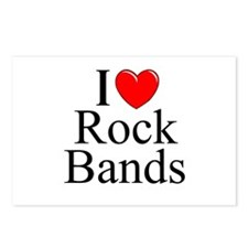 """I Love (Heart) Rock Bands"" Postcards (Package of"