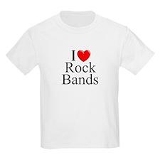 """""""I Love (Heart) Rock Bands"""" T-Shirt"""