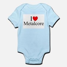 """I Love (Heart) Metalcore"" Infant Bodysuit"
