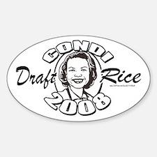 Draft Condi Rice 2008 Oval Decal