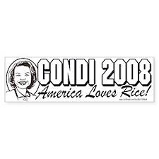 Draft Condi Rice 2008 Bumper Bumper Sticker