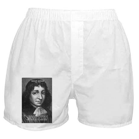 Philosopher Baruch Spinoza Boxer Shorts