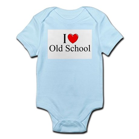 """I Love (Heart) Old School"" Infant Bodysuit"