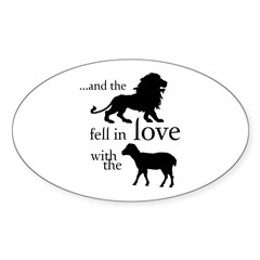 And the Lion fell in love with the Lamb Decal