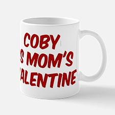 Cobys is moms valentine Small Small Mug