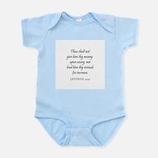 LEVITICUS  25:37 Infant Creeper