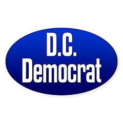 D.C. Democrat oval bumper sticker