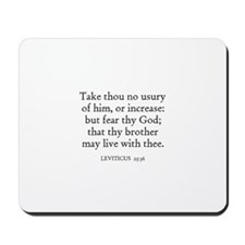 LEVITICUS  25:36 Mousepad