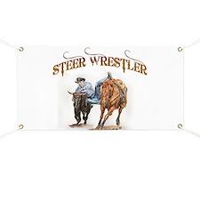 Steer Wrestler Banner