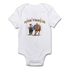 Steer Wrestler Infant Bodysuit