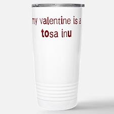 Tosa Inu valentine Travel Mug