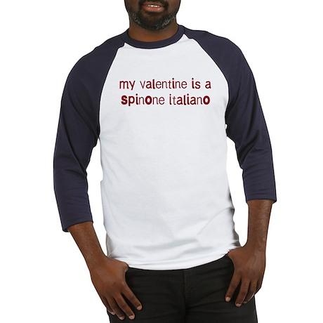 Spinone Italiano valentine Baseball Jersey
