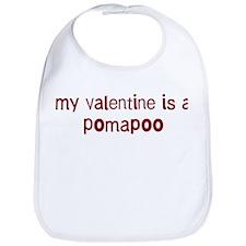 Pomapoo valentine Bib