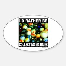 MARBLES Oval Decal