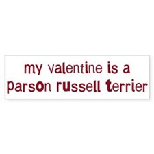 Parson Russell Terrier valent Bumper Sticker